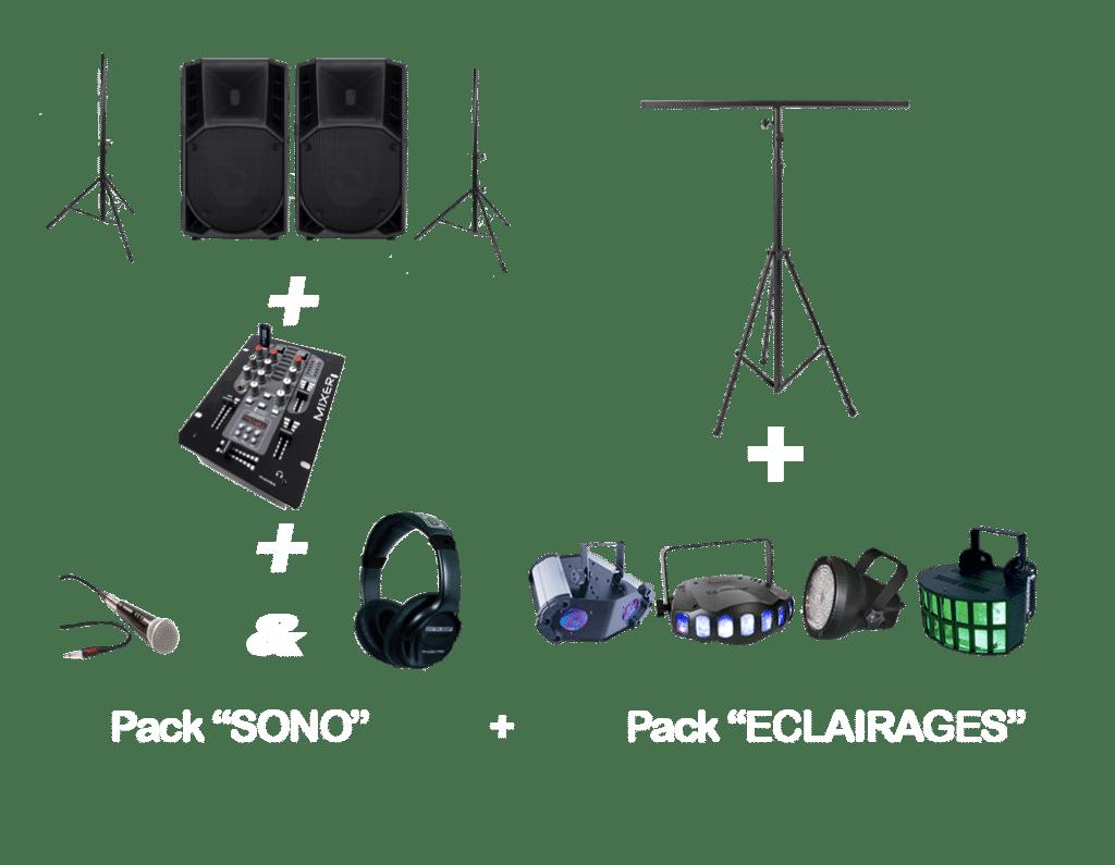 Packs SONO ECLAIRAGES-location sono rennes